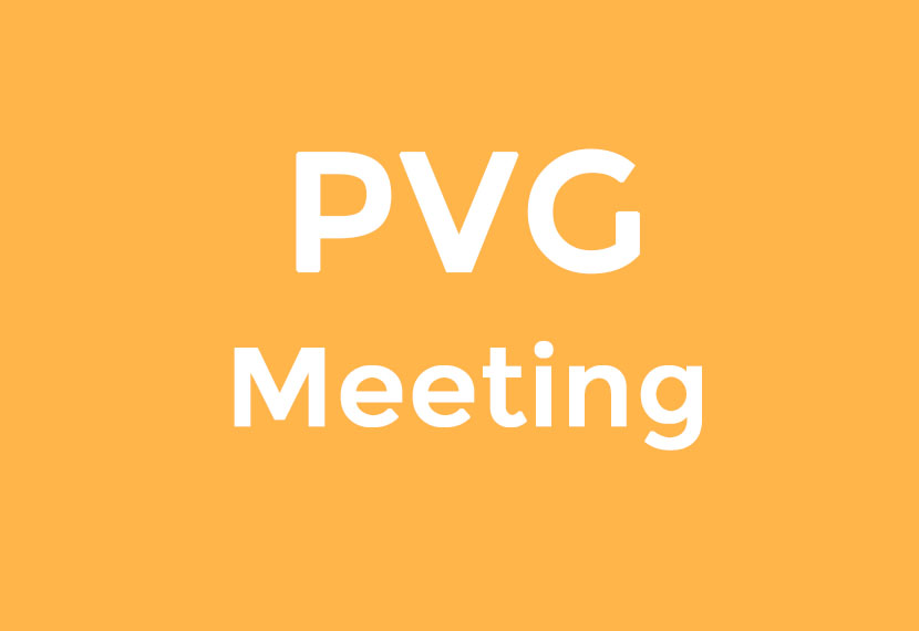 PVG Meetings for 2017/2018